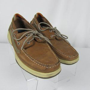 Sperry Top Sider Mens Tan 10.5 M Boat Shoe Two Eye